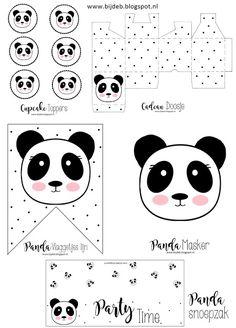 Hallo allemaal, Mij was gevraagd of ik ook een leuk thema pakket in elkaar kon zettenvoor een kinderfeestje.. en het thema moest zijn Panda!!Super leuk natuurlijk en ben er mee aan de slag gegaan.Dit Panda Themed Party, Panda Birthday Party, Panda Party, Bear Birthday, Baby Shower Oso, Panda Baby Showers, Panda Love, Cute Panda, Panda Nursery