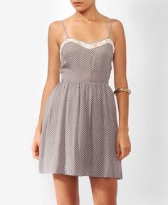 Lace Back Polka Dot Dress from Forever21.com