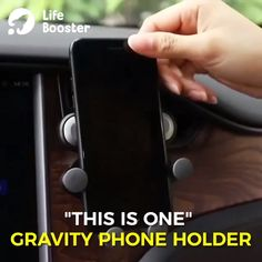 Gravity Phone Holder - Iphone Car Holder - Ideas of Iphone Car Holder - THIS IS ONE Gravity Phone Holder gravity linkage design pneumatic shockproof does not hurt the phone won't block your driving view Car Gadgets, Gadgets And Gizmos, Technology Gadgets, Acne On Nose, Diy Sharpie, Things To Buy, Stuff To Buy, Car Hacks, Cool Inventions
