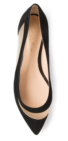 Mesh ballerina flats from Gianovito Rossi. Too expensive at $600 .