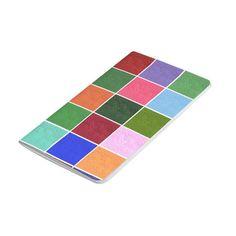 Textured Color Squares Pocket Journals