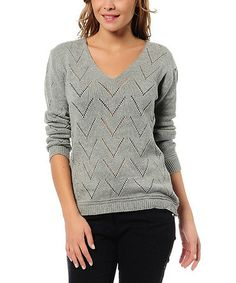 Take a look at this Gray V-Neck Sweater by Myra Europe on #zulily today!