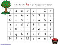 Printable ABC mazes for visual scanning and u/l case letter recognition. Use dot paint, mini pom poms, magnets, or crayons to mark the path. Preschool Literacy, Preschool Letters, Learning Letters, Alphabet Activities, Fun Learning, Kindergarten, Free Preschool, Free Alphabet Printables, Preschool Printables