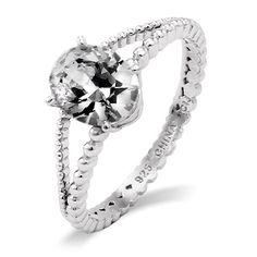 Oval Cut CZ Engagement Ring