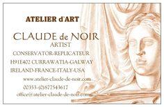 BIENVENUE-WELCOME- - www.atelier-claude-de-noir.com Atelier D Art, New Mobile Phones, Claude, Places, Black People, Lugares
