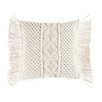 Ivory Macramé Cotton Cushion 45x45 | Maisons du Monde