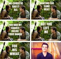 bahahaha i love Josh's face in the last one