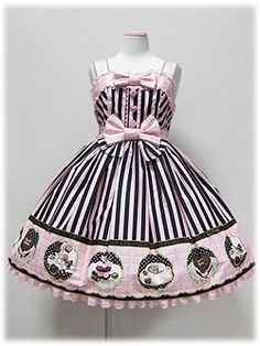 Angelic Pretty Melty Chocolate JSK in PinkxBlack