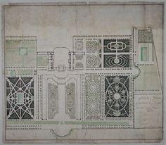 Plan du château et des jardins de Clagny dessiné par Maraine XVIIe siècle - Château de Clagny - Wikipedia, the free encyclopedia