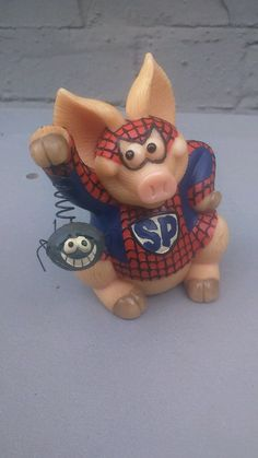 Piggin Collectors Figurine Spider PIG 2008 Ornaments PIG | eBay