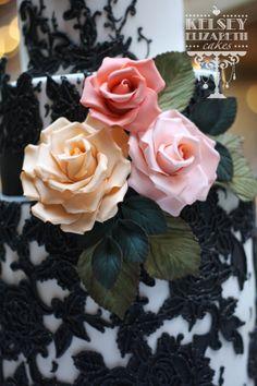 Kelsey Elizabeth Cakes: Sugar Roses www.kelseyelizabethcakes.com