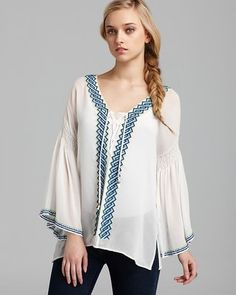 Quotation Plenty by Tracy Reese Blouse Peasant Silk Plenty by Tracy Reese