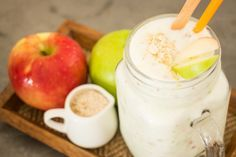 Apple & Honey Smoothie to sooth acid reflux