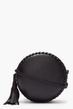 WENDY NICHOL Black braided leather Canteen Bag