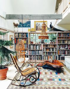 home library | Lonny's October issue featuring a home in Hudson Valley, by Sean Santiago