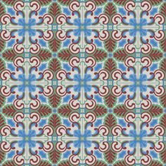 We love the acanthus motif on our Sevilla cement tile design. it's a gesture that appears in some sensational historic Guatemalan cement tile installations as well.