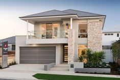 Residence in Hammond Park by Ben Trager Homes Modern House Exterior Ben Hammond Homes Park resi Residence Trager Dream Home Design, Home Design Plans, Minimalist House Design, Modern House Design, Casas Containers, Two Storey House, House Front Design, Dream House Exterior, Facade House