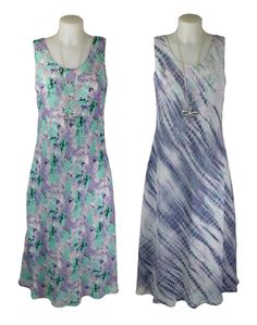 Cruise and holiday wear- Elizabeth Scott Light Blue and Purple Reversible Dress