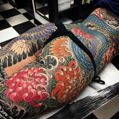 One Man Syndicate Asian Tattoos, Hot Tattoos, Body Art Tattoos, Girl Tattoos, Tattoos For Women, Tattooed Women, Tatoos, Japanese Dragon Tattoos, Japanese Tattoo Art