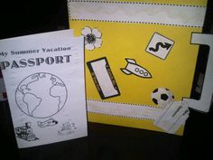 End of the Year Summer Suitcase and Passport Activity! Click on the link below.   http://www.teacherspayteachers.com/Product/Summer-Vacation-Suitcase-and-Passport-Activity-682346