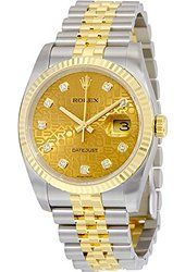 Rolex Oyster Perpetual Datejust 36 Champagne Dial Stainless Steel and Yellow Gold Rolex Jubilee Automatic Men's Watch Silver Rolex Watches For Sale, Rolex Watches For Men, Best Watches For Men, Luxury Watches For Men, Cool Watches, Men's Watches, Rolex Oyster Perpetual, Oyster Perpetual Cosmograph Daytona, Gold Rolex