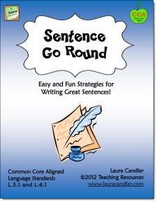 $ Sentence Go Round - Common Core Aligned (L.3.1 and L.4.1) Sentence Go Round is a simple and fun cooperative learning strategy to teach the difference between sentences, fragments, and run-ons. It includes an activity for expanding short sentences into longer, more detailed ones.