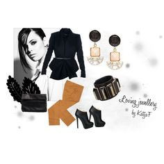 """""""Earrings and cuff bracelet"""" by kattjaf on Polyvore"""