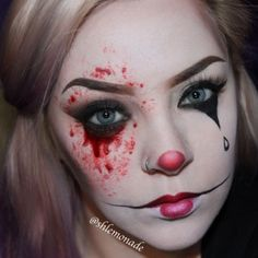 Here are great halloween makeup inspiration and ideas for you. As halloween is approaching, take a look at our perfect halloween makeup collection. Creepy Halloween Makeup, Creepy Makeup, Halloween Men, Halloween Party, Halloween Costumes, Halloween Ideas, Contour Makeup, Makeup Eyeshadow, Clown Face Paint