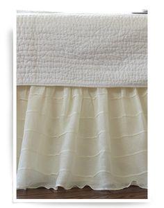 Tucked Cream Bed Skirt