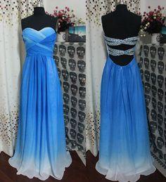 Blue-Silver >Dress<