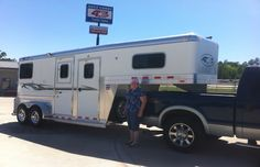 Good Monday morning everyone! We hope it was a great weekend and it looks like it definitely was for Kathy Graves from Alvin, TX!! Kathy purchased her 2H Straight Load from Jake Ramsey at Gulf Coast 4-Star Trailer Sales. Enjoy Kathy!!  (877) 543-0733