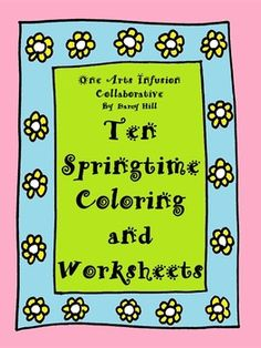 This collection of 10 sheets will keep your students happily engaged coloring butterflies, clovers, flowers, and umbrellas, and also filling in rhyming words to complete springtime poems about Earth Day, Memorial Day, Father's Day, and Spring itself. Ten Springtime Coloring and Worksheets by Darcy Hill is licensed under a Creative Commons Attribution-NonCommercial-NoDerivatives 4.0 International License.