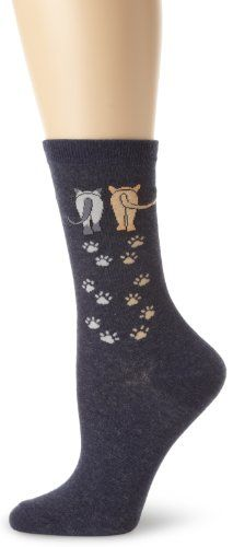 K. Bell Socks Women`s 2 Cats Socks $6.95 (save $3.05)