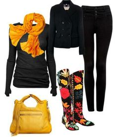 Casual outfit, boots and leggins