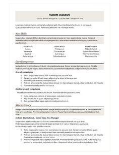 Headers For Resumes Organized  Cv  Pinterest  Professional Resume Template .