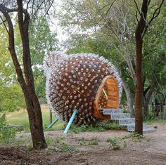 A human-sized birdhouse built for the San Antonio Botanical Gardens, the Gourd is a testament to working for and with community, and offers a playful platfor...