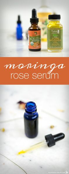 Precious marula, sea buckthorn, and jojoba oils come together with rose, lavender, and chamomile to create a luxurious moringa rose serum that heals skin. Diy Beauty Care, Handmade Soap Recipes, Moringa Oil, Natural Beauty Recipes, Diy Shampoo, Homemade Moisturizer, Rose Essential Oil, Pure Oils, Facial Oil