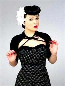 Cute rockabilly outfit, hair, and makeup