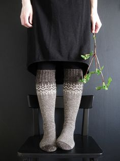 Ravelry: mustaavillaa's Winter Fantasy socks