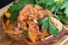 Tuna-stuffed baked kumara – Recipes – Bite