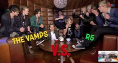 VampsVS.R5 in chubby Bunny Challenge :) #TheVampsBand <3