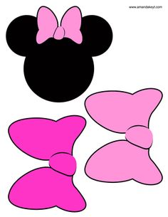 Minnie mouse bow template printable minnie bow clip art vector instant download minnie mouse friends birthday inspired printable photo booth prop set 2 pronofoot35fo Image collections