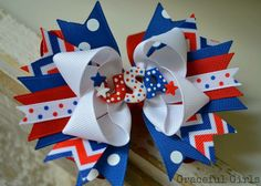 A personal favorite from my Etsy shop https://www.etsy.com/listing/233972570/little-miss-usa-sassy-hair-bow