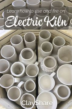 Learn how to use an electric kiln with our easy step by step tutorials. Follow ClayShare for more great pottery ideas, tips and techniques.
