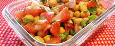 This vegan Mexican chickpea salad can't get any easier, and it's got a nice fresh taste that is perfect year-round. High Protein Recipes, Raw Food Recipes, Salad Recipes, Vegetarian Recipes, Cooking Recipes, Healthy Recipes, Vegetarian Lifestyle, Chickpea Recipes, Vegan Food