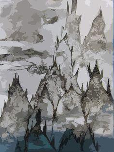 Um fundo de mar chinês imaginário (Chinese imaginary sea bottom) 0,59 x 0,42 Técnica mista sobre papel