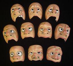half masks, character masks, masks for schools.  strangefacemasks.com