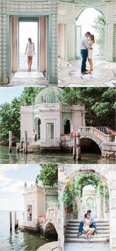 Vizcaya Museum and Gardens engagement photos