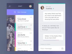 I have been working on new chat app based on users mood.  Behance Twitter