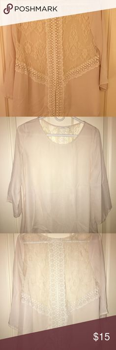 Lush lace back shirt Size large Lush lace back shirt. Super sexy! Lush Tops Blouses